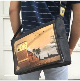 Freshmen, Radio Print, Benga Rabbit Messenger Bag