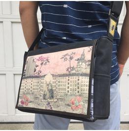 Freshmen, Silencio Print, Benga Rabbit Messenger Bag