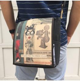 Eskimo, Lala Print, Benga Rabbit Messenger Bag