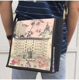 Eskimo, Silencio Print, Benga Rabbit Messenger Bag