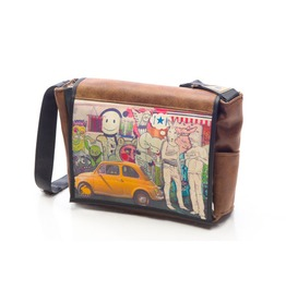 Freshmen, Hitch Print, Benga Rabbit Messenger Bag