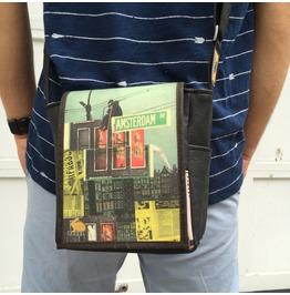 Mini, Amsterdam Print, Benga Rabbit Messenger Bag