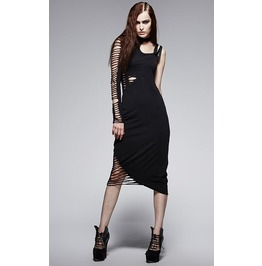 Steampunk Asymmetrical One Shoulder Dress