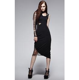 Steampunk Asymmetrical One Shoulder Dress