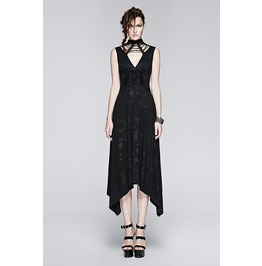 Steampunk Deep Neckline Spaghetti Straps Long Dress