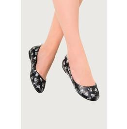 Banned Apparel Black Skeleton Hands Ballerina Flats