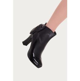 Banned Apparel Black Sadie Ribbon Design Heeled Boots