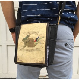 Mini, Big Benga Print, Benga Rabbit Messenger Bag