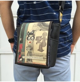 Mini, Lala Print, Benga Rabbit Messenger Bag