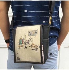 Mini, Nyc Print, Benga Rabbit Messenger Bag