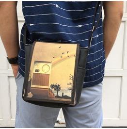 Mini, Radio Print, Benga Rabbit Messenger Bag