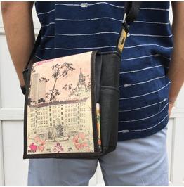 Mini, Silencio Print, Benga Rabbit Messenger Bag