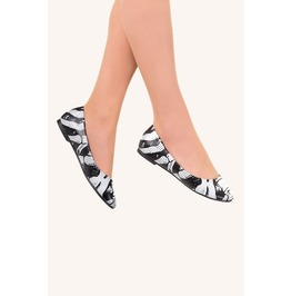 Banned Apparel Black Ribcage Ballerina Everyday Flats