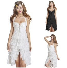 Sexy Corset Moulin Rouge Overbust Mini Skirt Halloween Fancy Dresse
