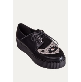 Banned Apparel Black Piper Beaded Creeper Shoes