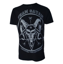 Team Satan Goat Head T Shirt Occult Lucifer Satanic Goth Biker