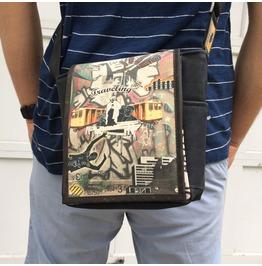 Mini, Traveling Print, Benga Rabbit Messenger Bag