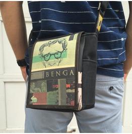 Mini, Woody Print, Benga Rabbit Messenger Bag