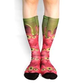 Three Eyed Cat Long Socks