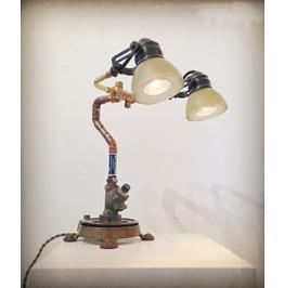Steampunk Lamp Found Object Assemblage Light Sculpture