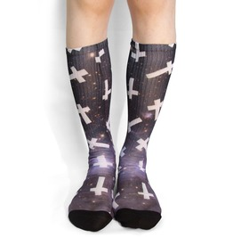 Starfield Cross Long Socks