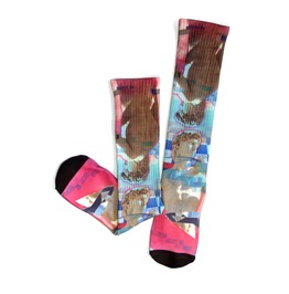 David Vaporwave Long Socks