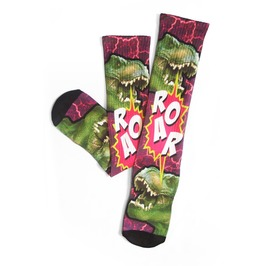 Roar Dinosaur Long Socks