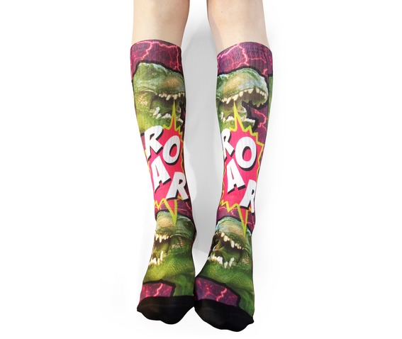 rebelsmarket_roar_dinosaur_long_socks_hosiery_and_garters_5.jpg
