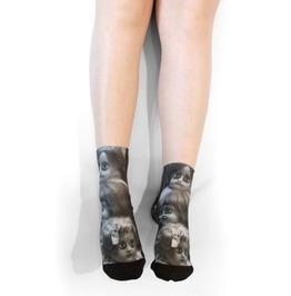 Creepy Dolls Ankle Socks.