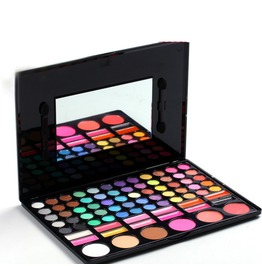 78 Color Makeup Tools Eye Makeup Palette 60 Eye Shadow+12 Color Lip Glos