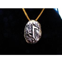 Runic Viking Pendant Eihwaz Made From Solid Bronze