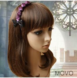 Handmade Black Bowknot Purple Rose Gothic Hair Accessories Hr 1