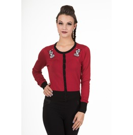 Banned Apparel Heavenly Creatures Cardigan Bordeaux And Black