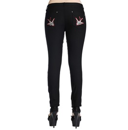 Banned Apparel Black Swallows Skinny Jeans