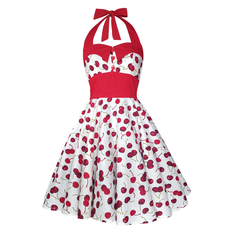 Rebelsmarket Cherry Dress Swing Party Festival Pin Up Rockabilly Dresses 3