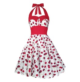 Cherry Dress Swing Dress Party Dress Festival Dress Pin Up Rockabilly Dress