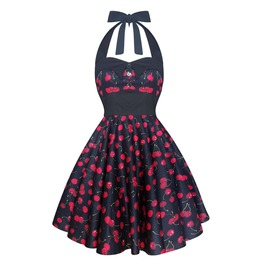 Cherry Dress Swing Dress Party Dress Festival Dress Pin Up Dress Rockabilly