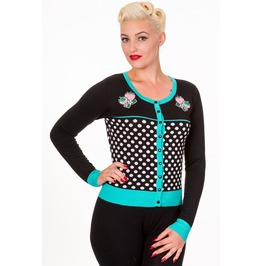 Banned Apparel Paradise City Cardigan Black,White&Aqua And Black,White&Red