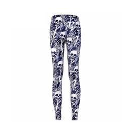 Multi Skeletons Digitally Printed Leggings