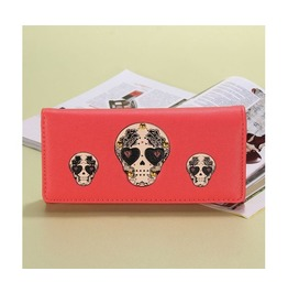 Multi Skull Patterned Pink Handbag