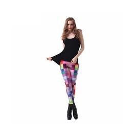 Multi Color Square Printed Leggings