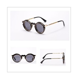 Unisex Steampunk Golden Frame Sunglasses