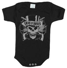 Guns Skull Baby Black Onesie