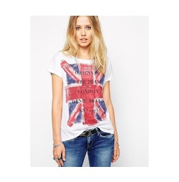 O Neck Short Sleeve British Union Jack Flag T Shirt