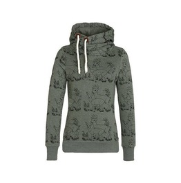 Womens Gazelle Printed Hooded Sweatshirt