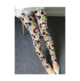 Multi Color Flowers Printed Leggings