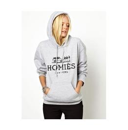 Women's Gray Homies Hooded Sweatshirt