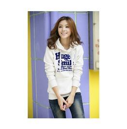 Womens Huge Smile Printed 3 Colors Hooded Sweatshirt