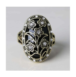 Women's Black/Red/Blue/Green Vintage Wedding Flower Rings