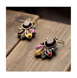 Graceful Resin Stone Antique Vintage Drop Earrings